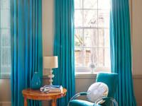 Бирюзовые шторы — советы по оформлению и сочетанию цветов в интерьере