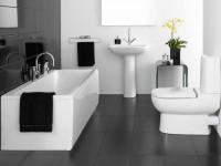 Черно-белая ванная комната — 87 фото лучших идей оформления дизайна