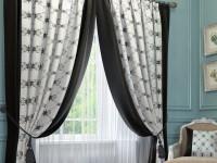 Черно-белые шторы в интерьере. Как их правильно оформить и сочетать (75 фото)