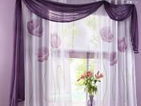 Сиреневые шторы — правила идеального сочетания +60 фото дизайна
