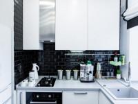 Дизайн черно-белой кухни — 87 фото идей стильного оформления