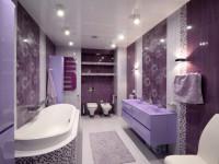 Фиолетовая ванная — как ее сочетать с другими цветами? 80 фото идей дизайна!