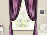 Фиолетовые шторы — смелое решение в современном интерьере (65 фото дизайна)