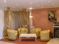 Золотистые шторы — элегантный и строгий дизайн в современном стиле (55 фото)