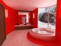 Красная ванная комната — яркие акценты современного дизайна (65 фото)