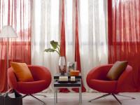 Красные шторы — простой способ разбавить цветовое оформление на 150 фото!