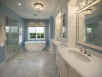Натяжной потолок в ванной — необычные решения по дизайну (65 фото)