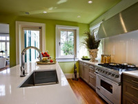 Потолок на кухне — самые красивые примеры оформления в интерьере + 88 фото