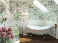 Ванная комната в стиле прованс — Красивая отделка стен натуральными материалами +87 фото