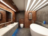Ванная в стиле лофт — современные дизайн — проэкты (100 фото)