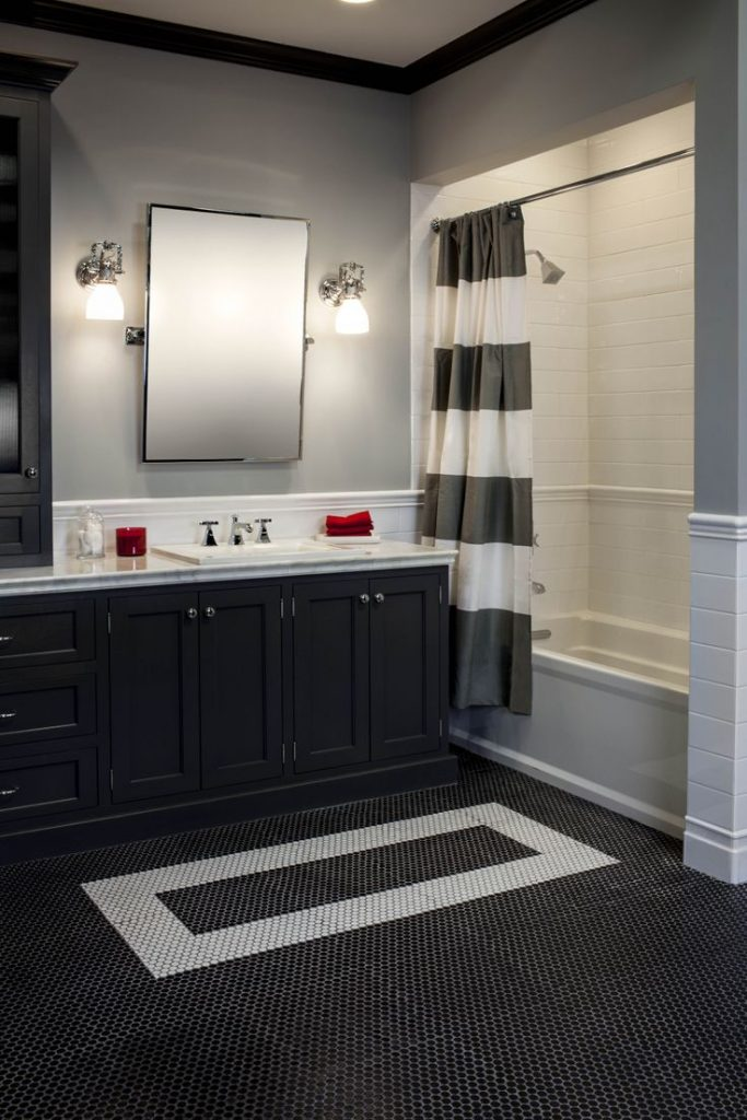 Black bathroom rugs