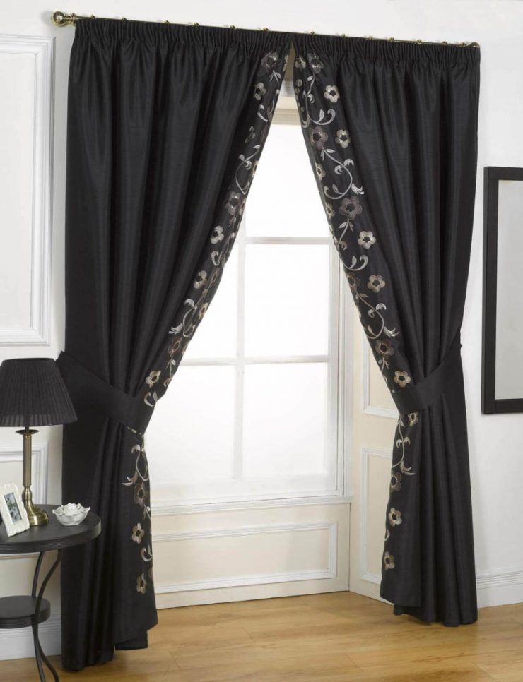 Black and white beaded curtains