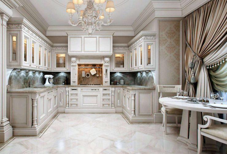 Картинки по запросу кухня в классическом стиле