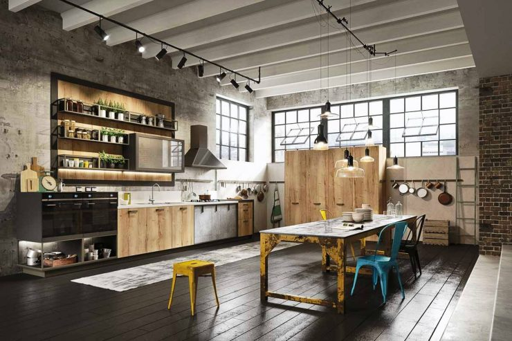 кухня в стиле лофт самый оригинальный дизайн во всех тонкостях