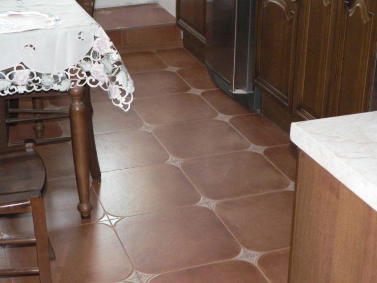 Комбинированный пол на кухне: плитка и ламинат   Строительный вестник   555x740